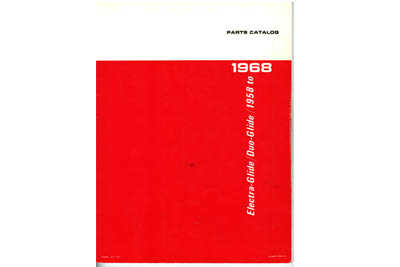 Spare Parts Book for 1958-1968 Big Twin