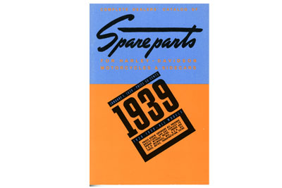 Spare Parts Book for 1926-1939