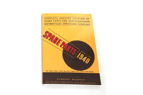 Spare Parts Book for 1930-1940 Big Twin